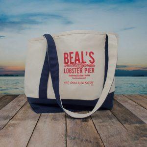 beals lobster tote bag